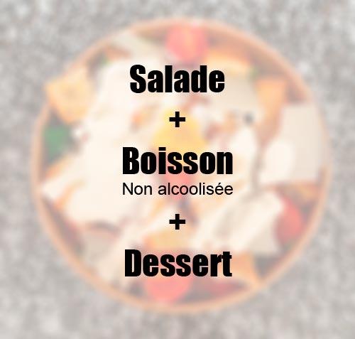 Formule salade / boisson / dessert à 14,50€